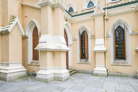 parish: St. Johns Cathedral is the first established christian churches in Hong Kong,built in 1849. Stock Photo