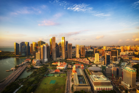 SINGAPORE -  Marina bay quay in the centre of Singapore