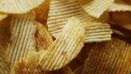 Close-up potato chips