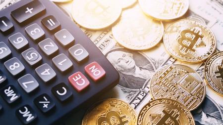 US dollar and bitcoin
