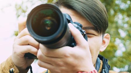Tourist travel photographer photographing Kaohsiung city Taiwan