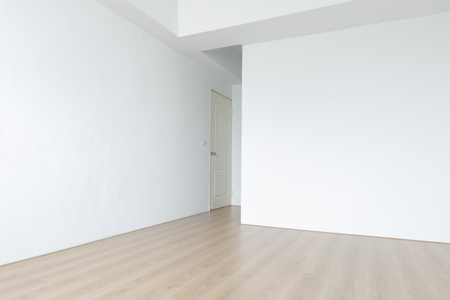 Newly constructed flooring and wall