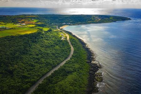 Aerial View Of Kenting National Park Coastline. Taiwan