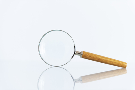 magnifying glass on white background Stock Photo