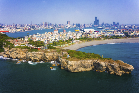 Aerial View Of The Beach In Qijin Kaohsiung - Taiwan