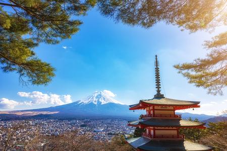 View Of Mount Fuji From Chureito Pagoda