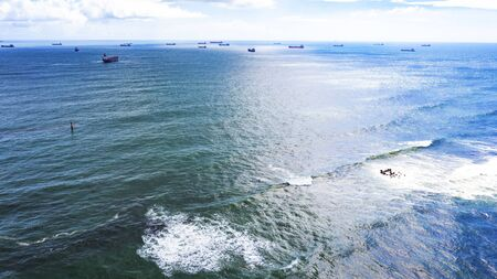 Aerial View Of Beautiful Water Sea Surface