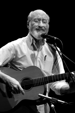 ST. PETERSBURG, FLORIDA (USA) - FEBRUARY 18, 2012: Paul Stookey, best known as Paul in the folk trio Peter, Paul and Mary, sings a sentimental song at The Palladium. Editorial