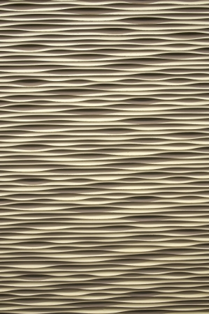 repeated: Cream color interesting wavy repeated pattern background. Stock Photo