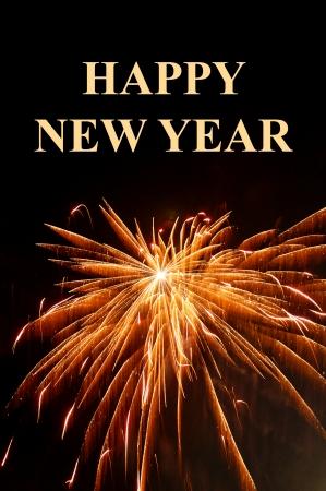 Fireworks display on New Year celebration. Stock Photo