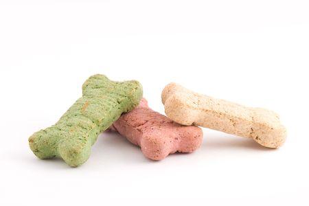 Christmas colored dog treats photo