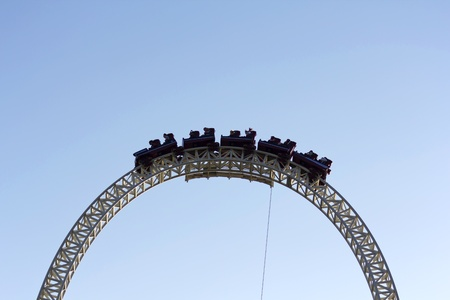 Image of a dark roller coaster on a blue background Stock Photo - 9406748