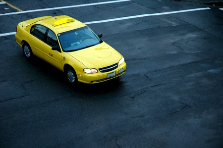 A view of a taxi cab from above Stock Photo - 7003598