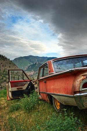 abandoned car: Abandon and Run Stock Photo