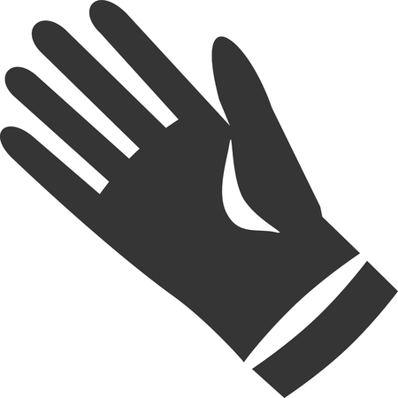 Hand Glove - Ambiguous - Determined Horse. Optical Illusion. Latex Rubber Cleaning Protection. Muzzle, Mane, Fierce Confident Successful Eye. Fingers, Thumb Sleeve Cuff. Outline Shadow.
