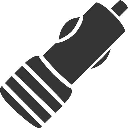 12v Autolader - Mobiele plug-in. Icoontje voor opladen van voertuig, sigarettenaansteker, USB-apparaat opladen en reisaccessoire. Ondertekenings- of labelelement voor transport Elektriciteit, Auto Electric Supply en Automobile Electronics