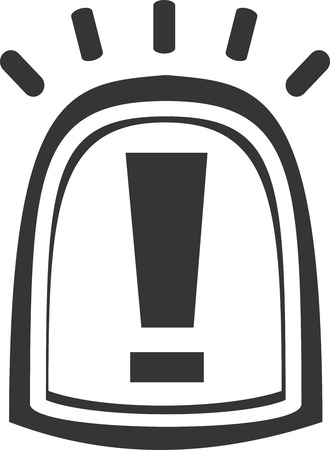 Siren Light - Flashing Warning Notice. Alarm or Alert Beacon for Emergency Vehicle or Construction. Sign or Symbol for Attention. Warn of Safety Regulations and Danger Zones. Shining Active Precaution Icon.