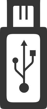 Micro USB Plug - Port Insert Adapter. Phone Charging Data Transfer Cable. Phone and Tablet Hardware Accessory Equipment. Charge Station Sign Symbol.