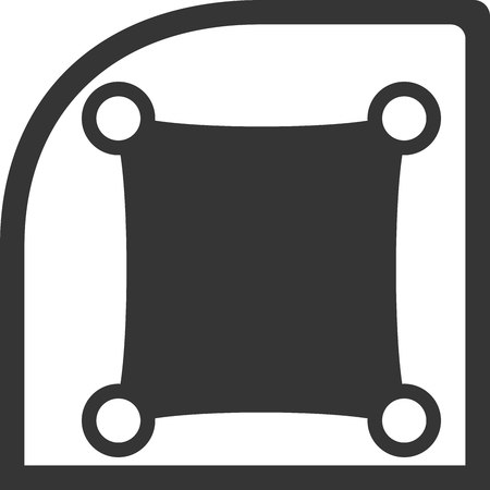 Window Shade Creative Vector Icon Shape. Use for Baby On Board or Sunshade and Icons. Protect passengers from sun rays