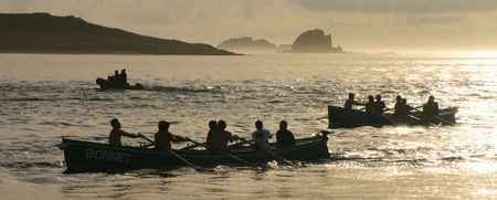 scilly: Gig race, Isles of Scilly.