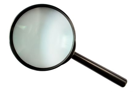 A magnifying glass isolated on a white background.