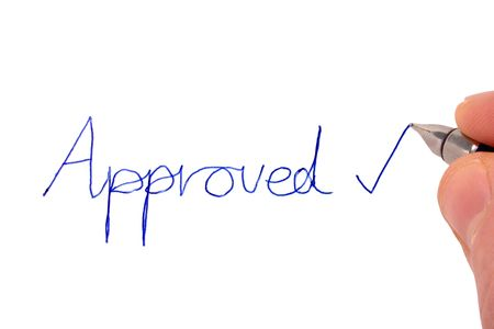 Writing approved