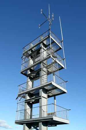 brigade: Fire brigade practice tower. Stock Photo