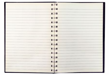 Blank discolored pages in an old notebook. Stock Photo - 912663