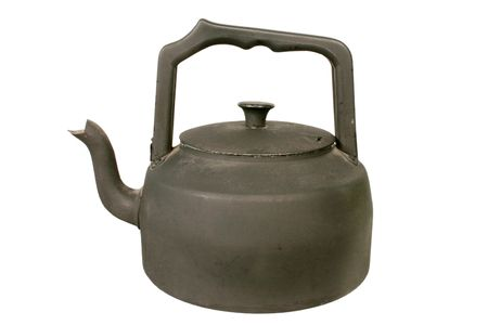 Old black stove kettle Stock Photo - 915985
