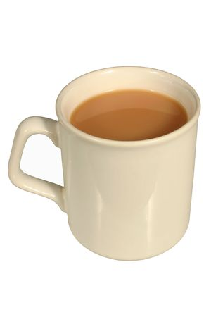 A mug of tea, isolated on a white background Stock Photo