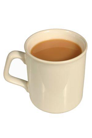 diuretic: A mug of tea, isolated on a white background Stock Photo