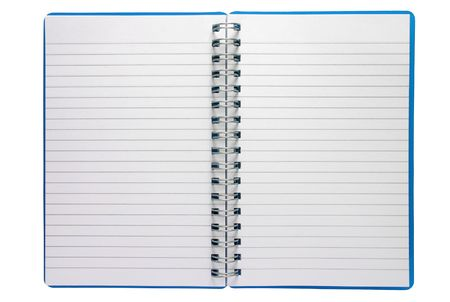 A small spiral notepad Stock Photo