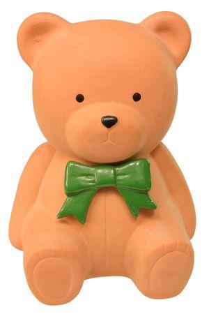 Orange teddy bear money box photo