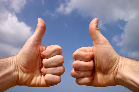 Thumbs up sign Stock Photo - 916025