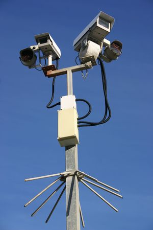 Two CCTV street security cameras Stock Photo - 916303