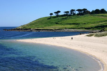 mary's: Pelistry beach, St. Mary�s, Isles of Scilly Stock Photo