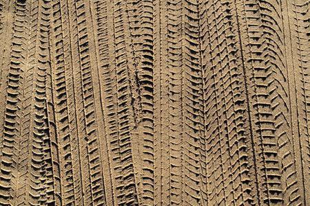 Tyre tracks in sand. Stock Photo - 916330