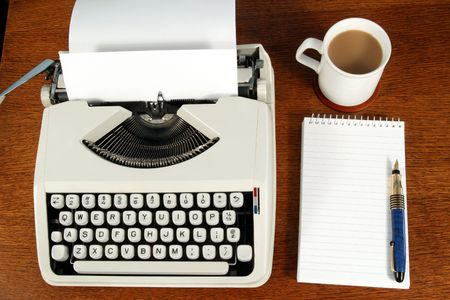 A writer�s desk. Stock Photo