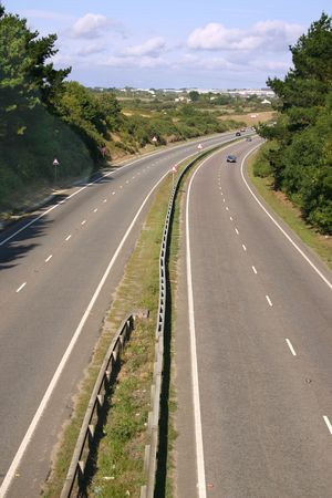 dual: The A30 dual carriageway road Cornwall UK Stock Photo