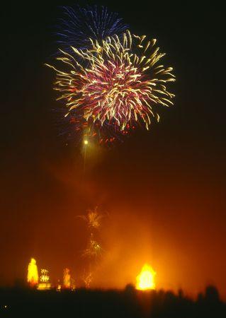 Bonfire night in the UK, November 5th, Fireworks and bonfires.