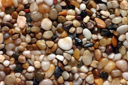 Polished pebbles photo