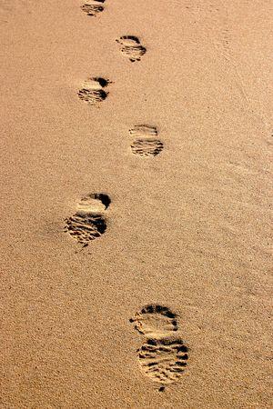 streifzug: Fu�spuren im Sand