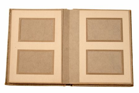 An old photo album from the 1960's with space to insert photos. photo
