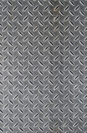 Metal floor cover abstract background. photo