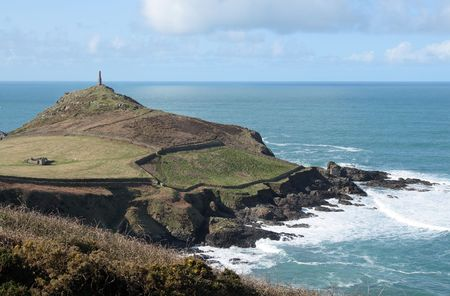sentinel: Cape cornwall and the sentinel. Stock Photo