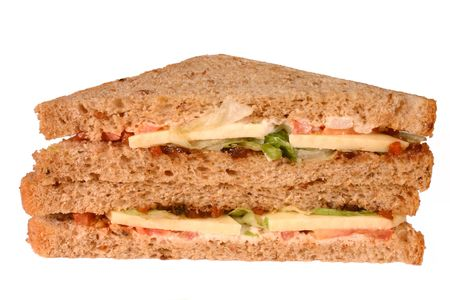 good cholesterol: A Ploughman�s lunch, cheese and pickle sandwiches.