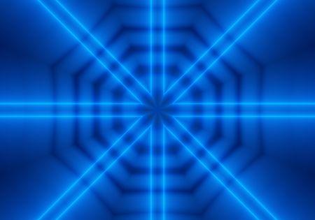 octagonal: Blue kaleidoscopic octagonal pattern image.