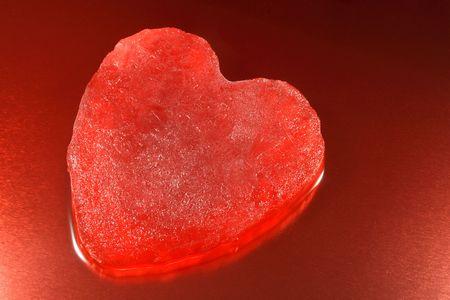 Melting red ice heart. Stock Photo - 960071