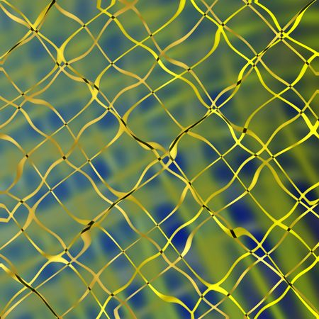 netting: Golden netting abstract background.