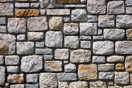 Close up background image of a modern stone wall.